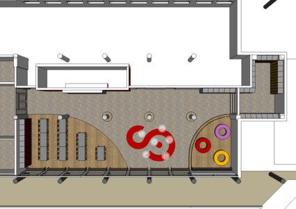 Plattegrond voorstel aula
