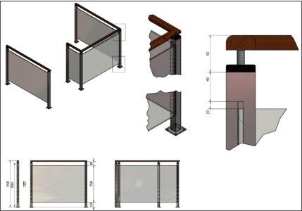 Balustrade detailtekening
