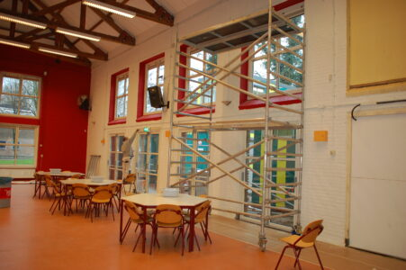 Proces verbouwing aula