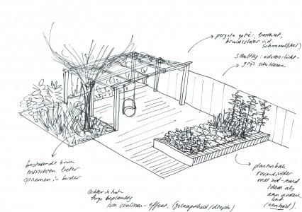 Tuinontwerp woning loes kellendonk architectuur for Schets programma